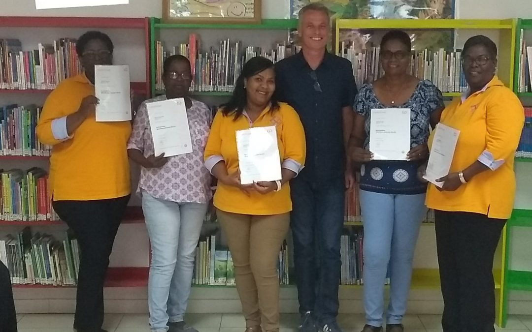 Training for the librarians of the Biblioteku Nacional in Bonaire