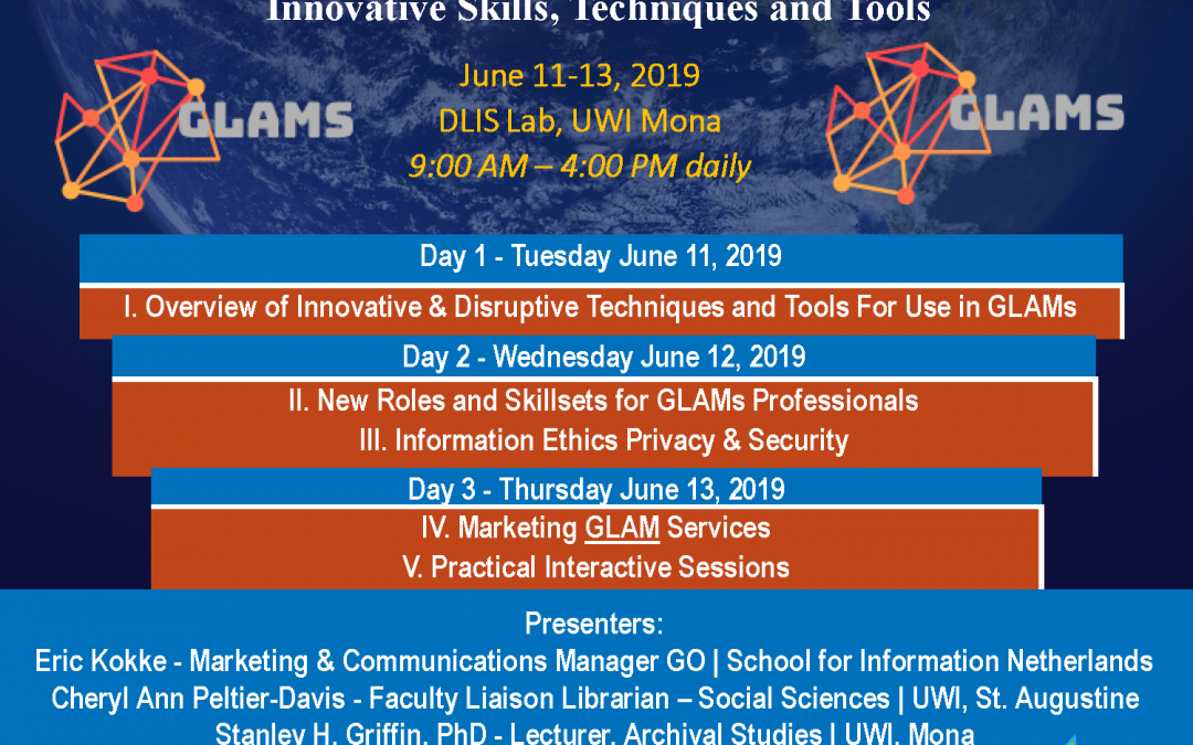 GO, UWI Mona & UWI Alma Jordan provide a 3 day (online) course on new techniques and skills